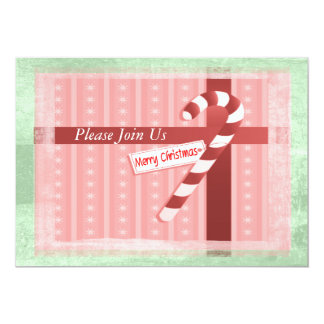 Christmas Candy Cane Gift Set 13 Cm X 18 Cm Invitation Card