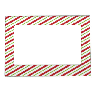 Christmas candy cane green stripe picture frame
