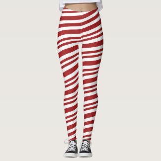 Christmas Candy Cane Holiday Leggings