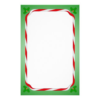 Christmas Candy Cane Personalized Stationery