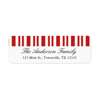 Christmas Candy Cane Return Address Label