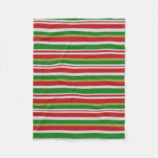Christmas Candy Cane Stripe Fleece Blanket