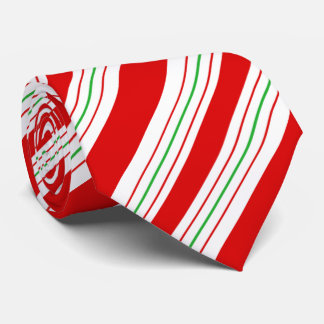 Christmas Candy Cane Stripes ID259 Tie