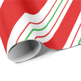 Christmas Candy Cane Stripes ID259 Wrapping Paper
