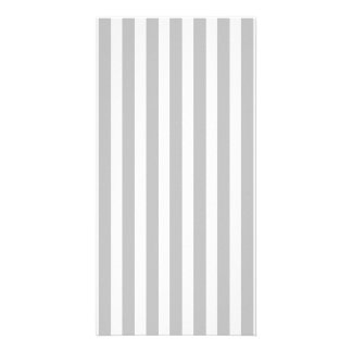 Christmas Candy Cane Stripes in White and Silver Custom Photo Card