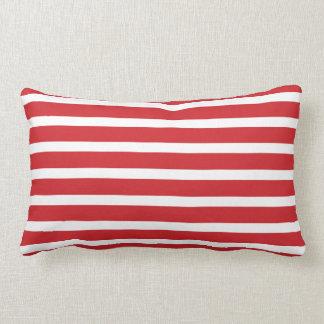Christmas Candy Cane Stripes Lumbar Cushion