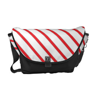 Christmas Candy Cane Stripes Pattern Commuter Bag