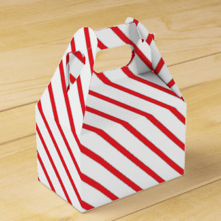 Christmas Candy Cane Stripes Pattern Favour Box