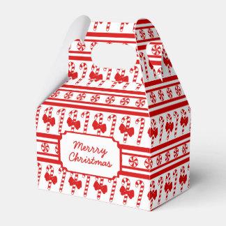 Christmas Candy Cane Stripes Wedding Favour Box