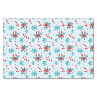 Christmas Candy Canes and Snowflakes Tissue Paper