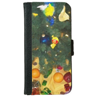 Christmas candy founds portfolio iPhone 6 wallet case
