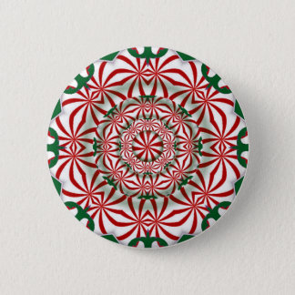 Christmas Candy Holiday Kaleidoscope Button
