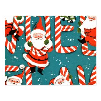 Christmas Candy Postcard