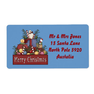 Christmas Candy Shipping Label