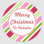 Christmas Candy Stripes Stickers