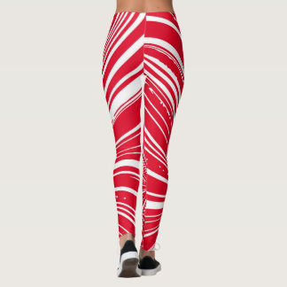Christmas Candy Winter Vortex Leggings