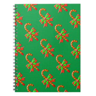Christmas cane spiral notebook