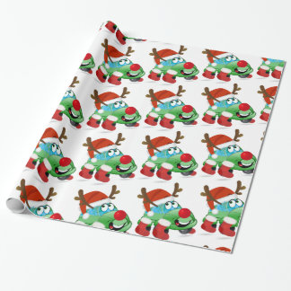 Christmas Car Cartoon Wrapping Paper