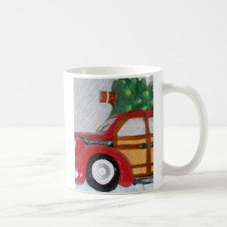 christmas car pencil mug
