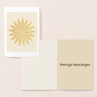 Christmas card ASTRE gold foil (Dutch)