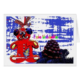 Christmas card Bärchen PopArt