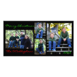 Christmas Card - Black Background Photo Greeting Card