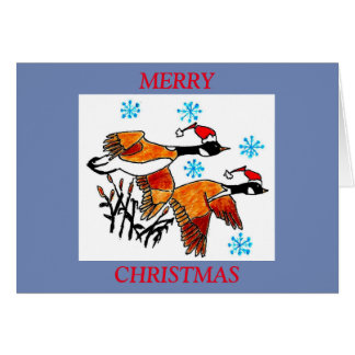 CHRISTMAS CARD -  CANADIAN GEESE FLYING SOUTH