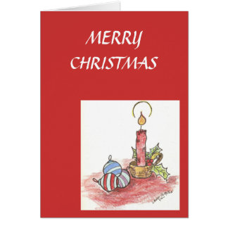 Christmas Card/ Candle Card