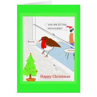 Christmas Card customizable cute robin
