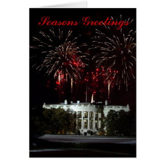 Christmas Card, Fireworks at the White House Card