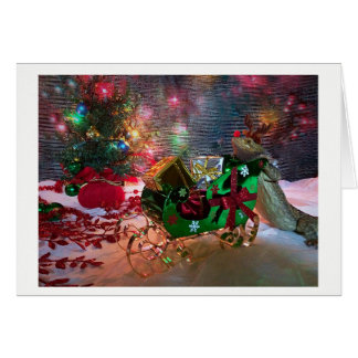 Christmas Card -  Flapjack the Bearded Dragon