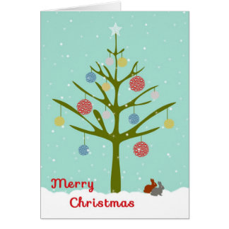 Christmas Card for Co-Worker with Tree & Ornaments