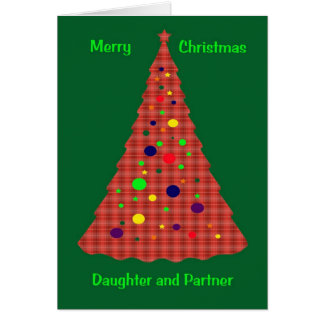 Christmas Card For Daughter And Partner