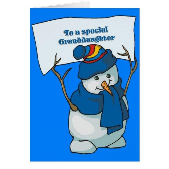 Christmas Card For Granddaughter
