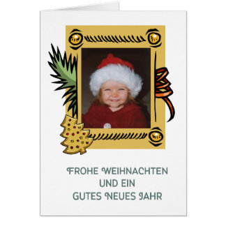 """Christmas card for personalizing """"gingerbread """""""