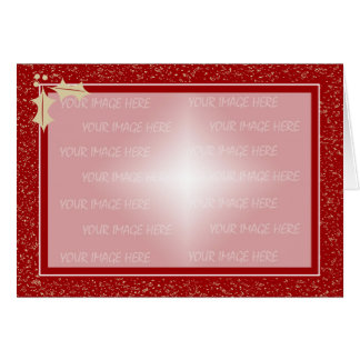 Christmas Card Frame Template Horizontal