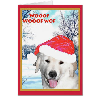 Christmas Card, Funny Golden Retriever Card