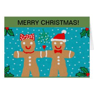 Christmas card gingerbread design