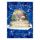 Christmas card, Goddaughter Christmas, Elf in a sn Card