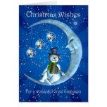 Christmas card, Great Grandson Christmas, Snowman