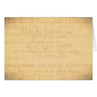 Christmas card - Handwriting
