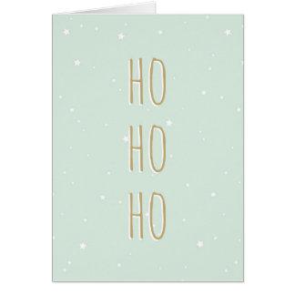 Christmas Card Ho Ho Ho Stars Pattern Trendy Funny