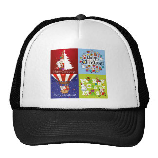 Christmas card in four designs cap