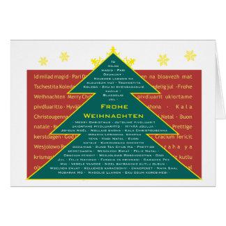 Christmas card internationally fir tree