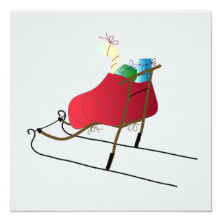 Christmas Card kick Sled