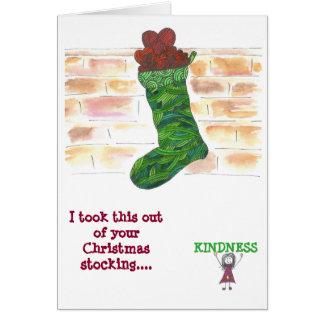 Christmas card - kindness