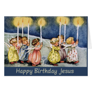 Christmas Card - Little Angels with Candles
