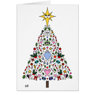 Christmas Card Miracle of Awakening Tree White