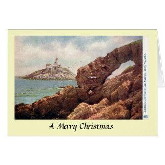 Christmas Card - Mumbles Lighthouse, Swansea