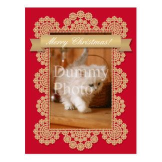 Christmas card of photo frame postcard